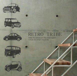 vinilo-decorativo-pegatina-pared-cristal-puerta-varios-colores-a-elegir-coches-retro