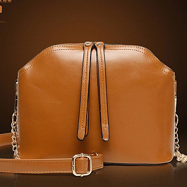 La donna pu Shell Borsa a tracolla / Tote - Marrone / rosso / nero,marrone Brown