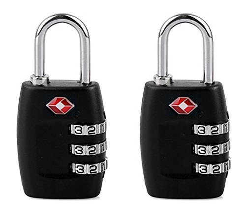 DOCOSS (TM)-Set Of 2-USA TSA Approved 3 Digit Bag luggage Number Padlock For International Travelling Lock Resettable Password Locks Combination Padlock(Assorted colour)  available at amazon for Rs.690