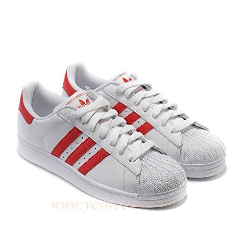 adidas Superstar, Scarpe da Corsa Uomo Bianco (Footwear White/solar Red/solar Red)