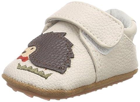 Rose & Chocolat Hedgehog bébé garçon Tapis D'éveil Chaussures - Beige - Beige (Cream), 17-18 EU