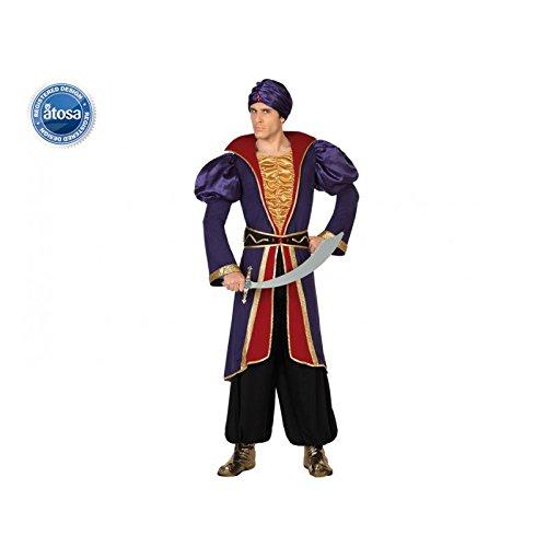 Atosa 28465 - Arabischer Prinz, Herrenkostüm, Größe 52/54, blau/rot (Arabischer Prinz Kostüm Für Erwachsene)