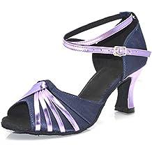 Mujer Morado Zapatos Baile Amazon Latino es De 8nAgwzv4
