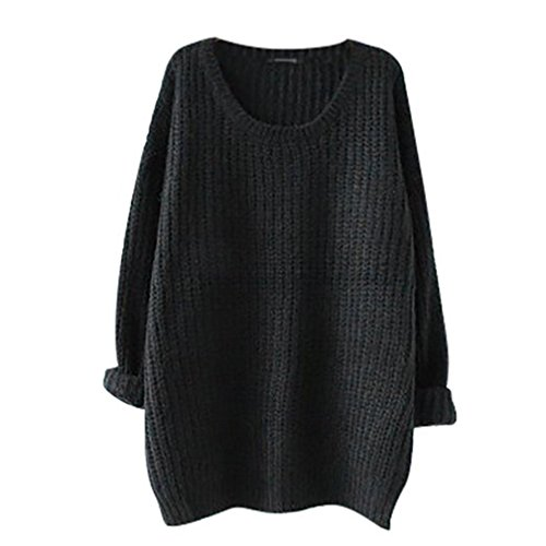 EAAMU®Damen Frauen Herbst Winter Spring Langarm Pullover Sweater Strickjacke Pulli Strickpullover Sweatshirt Strickpulli