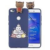 HUDDU Huawei P8 Lite 2017 Xmas Handy Hülle, Motiv Huawei P8 Lite 2017 Handyhülle Transparente 3D Karikatur Schutzhülle TPU Silikon Back Cover Ultra Dünn Protective Case Weihnachten Christmas - Katze