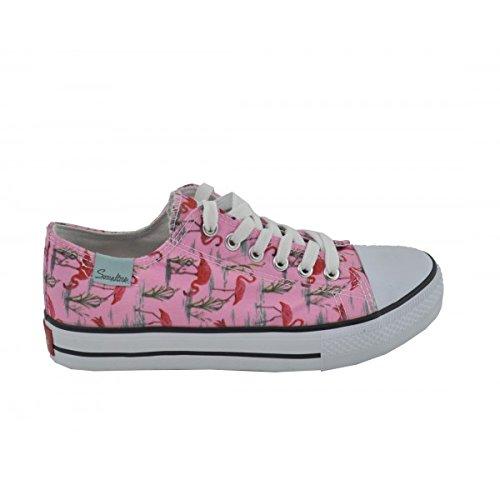 Benavente - Zapatilla deportiva de lona estampado rosa - Benavente Rose