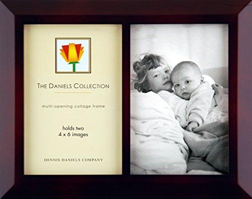 Dennis Daniels Classic Öffnungen Collage Rahmen hält Zwei Bilder, 10,2x 15,2cm, Nussbaum dunkel - Dunkle Braune Farbe Finish