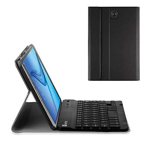 Fintie Tastatur Hülle für Samsung Galaxy Tab S2 8.0 T710/ T715/ T719 (8 Zoll) Tablet - Ultradünn Ständer Schutzhülle mit magnetisch Abnehmbarer drahtloser Deutscher Bluetooth Tastatur, Schwarz