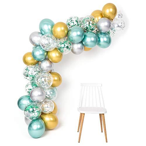 tallic Luftballons Garland Arch Kit 12 Zoll 50 Stücke für Dschungel Thema Party Supplies Baby Dusche Geburtstag Hochzeit Dekorationen ()