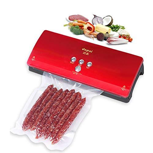 HPDOK Lebensmittel Vakuumierer/Vakuumierer / 30 cm SchweißNaht / 10 Sekunden Siegeln/Trocken Und Nass Modus/Kompaktes Design/Lagerung Und Konservierung Von Lebensmitteln,Red