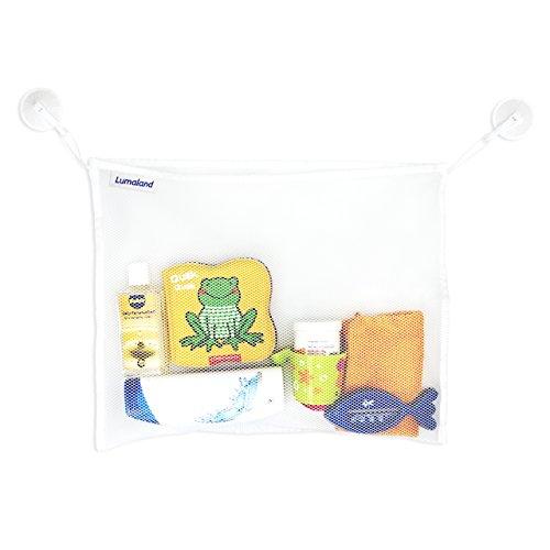 Lumaland Badewannen Spielzeug Organizer Badewannennetz an extra stabilen Saugnapfhaken befestigt ca. 45 x 35 cm