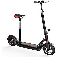 grenergy adulto plegable Kick Scooter eléctrico con batería de ion de litio de alta capacidad 36V 10.4Ah portátil 2gran rueda plegable scooter eléctrico para adulto, H2 with seat, 1140*500*1000mm/1220x520x1033mm