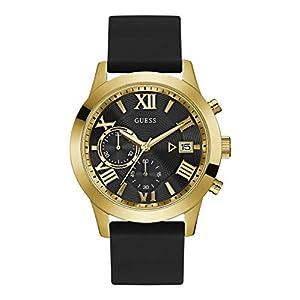 Guess Reloj Analógico para Hombre de Cuarzo con Correa en Caucho W1055G4