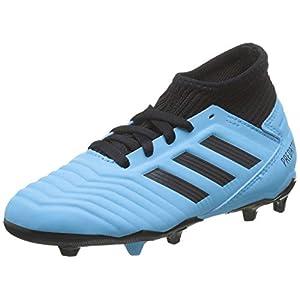 adidas Predator 19.3 FG, Zapatillas de Fútbol para Niños, Turquesa (Bright Cyan/Core Black/Solar Yellow 0), 38 EU