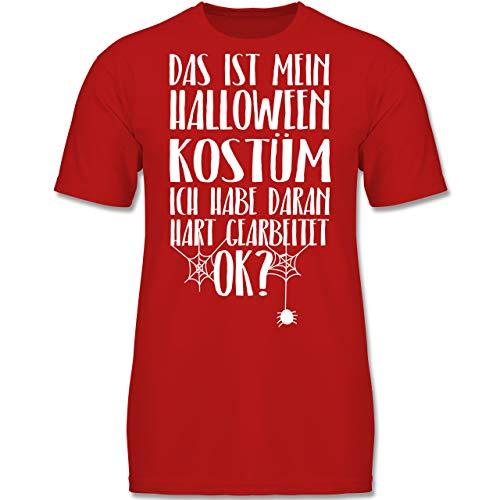 Anlässe Kinder - Das ist Mein Halloween Kostüm - 152 (12-13 Jahre) - Rot - F130K - Jungen Kinder T-Shirt (Kinder Spider Kostüm Ideen)