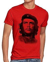 style3 Cuba Liberta Herren T-Shirt Kuba revolutionär Revolution, Größe:XL, Farbe:Rot