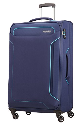 American tourister holiday heat valigia, spinner l (79.5cm-108l), blu (navy)