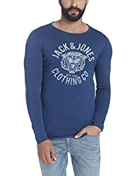 Jack & Jones Mens Cotton Sweater (12117846_Indigo_X-Large)