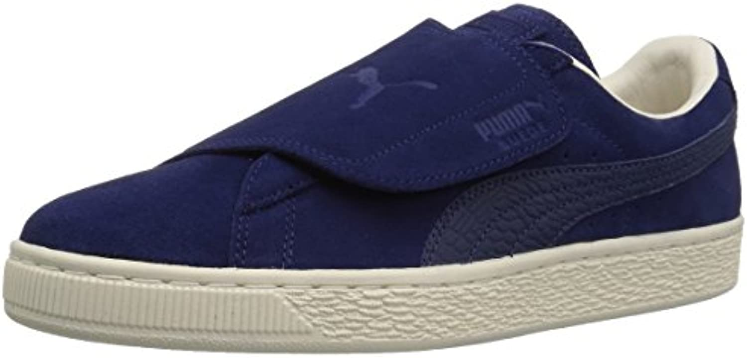 PUMA Men's Suede Wrap Color Blocked Sneaker  Blue Depths Blue Depths  10 M US