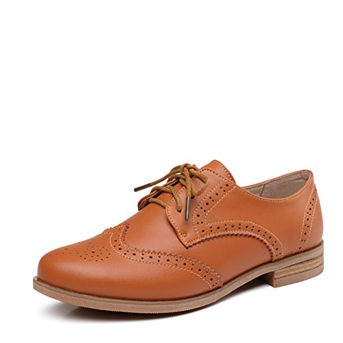 Casual Chaussures De Printemps,Chaussures Chaussures Plates En Cuir De Brock, Chunky British Style Talons Chaussures B
