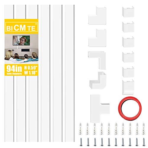 Kabelkanäle Selbstklebend PVC Kabelabdeckung TV Wand Kabel Organizer Verstecken Kabelhülle Weiß