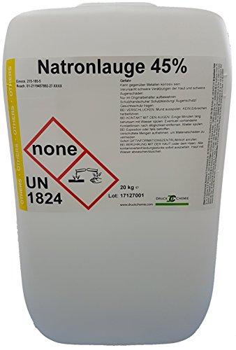 Preisvergleich Produktbild Natronlauge 45% 20 Kg - Natriumhydroxid