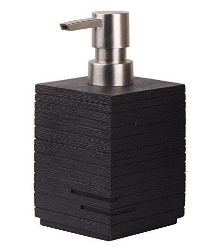 Seifenspender Calero Schwarz | stylisches Design | schöner Blickfang im Badezimmer
