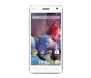 Wiko Highway Smartphone débloqué 4G (Ecran : 5 pouces 16 Go Simple SIM Android 4.4 KitKat) Blanc