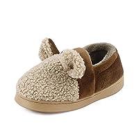 LACOFIA Children Boys Girls Sheep Slippers Kids Winter Animal Home Shoes