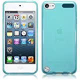 iPod Touch 5 Case, Keep Talking Shop® Blue Silicone Skin Gel Case Cover Gel Jacket Protector [Perfect-Fit]