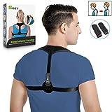 SKEY Corrector de Postura y para Hombres y Mujeres El Mejor Apoyo para la Espalda Superior del Hombro Fisioterapia Ajustable Brace Postura de la Médula Espinal Cuerpo Cómodo Entrenador (M1)