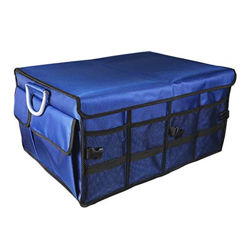 Organisateur de Coffre de Voiture boîte de Rangement de Voiture Pliable Coffre de Voiture triant Une boîte de Stockage de Bagages Fournitures polyvalentes (Color : Blue, Size : 60 * 35 * 30cm)