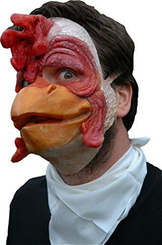 Huhn Maske aus Latex - Tiermaske verrücktes Huhn