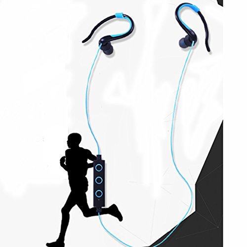 Generic Bluetooth Kopfhörer In Ear Halsband Sport Ohrhörer, 6-Stunden-Spielzeit, Bluetooth V4.1 für Joggen, Workout, Fitness, Headphones mit Mikrofon für IOS, Android, MP3 & Weitere - Blau