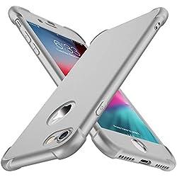 ORETECH Coque iPhone 7, Coque iPhone 8, avec [2 x Protecteur D'écran en Verre Trempé] iPhone 7/8 Housse Hybride Robuste 2 en 1 Antichoc Mince Anti-Rayures PC+TPU pour iPhone 8/7 Case 4.7'' Argent