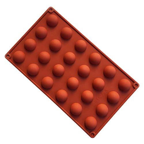 k Premium Silikon Backform/Muffinform für Muffins, Cupcakes, Kuchen, Pudding, Eiswürfel und Gelee - Runde Kugel Silikonform für eindrucksvolle Kreationen, Hochwertige Kuchenform ()