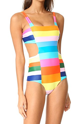 Akalili Damen Badeanzug Mehrfarbig Mehrfarbig Gr. Medium, Mehrfarbig (Teen Girl Coustumes)
