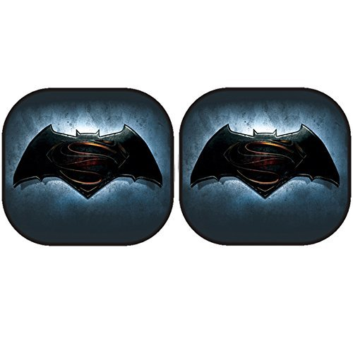 Preisvergleich Produktbild Batman vs. Superman Logo DC Comics Auto Car Truck SUV Vehicle Universal Fit Window Sunshade with 2 Suction Cups - Side Sun Shade by LA Auto Gear