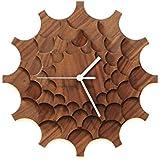 Cogwheel Walnuß - moderne Wanduhr aus gefurnierte Sperrholz