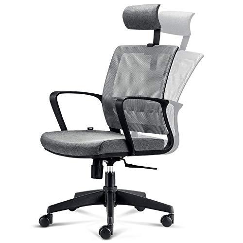 INTEY Chaise de Bureau Ergonomique, Fauteuil Pivotant...