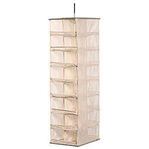 Stosto® 20 x 30 x 76 cm Étagère Suspendue Penderie 32 Cases Organisateur Rangement Chaussettes Penderie avec étagères d'accessoires économie des espaces