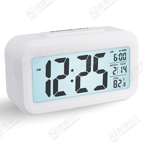 Despertador Digital con Alarma, Arespark Reloj Despertador de 5,3 Pulgadas.Blanco