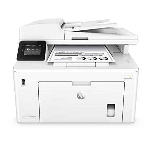 HP LaserJet Pro M227fdw Laserdrucker Multifunktionsgerät (Schwarzweiß Drucker, Scanner, Kopierer, Fax, WLAN, LAN, Airprint) weiß