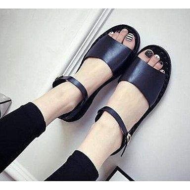 Sandales Pour Femmes Rtry Confort Pu Été Informal Confort Gris Noir Plat Blanc Us6.5-7 / Eu37 / Uk4.5-5 / Cn37