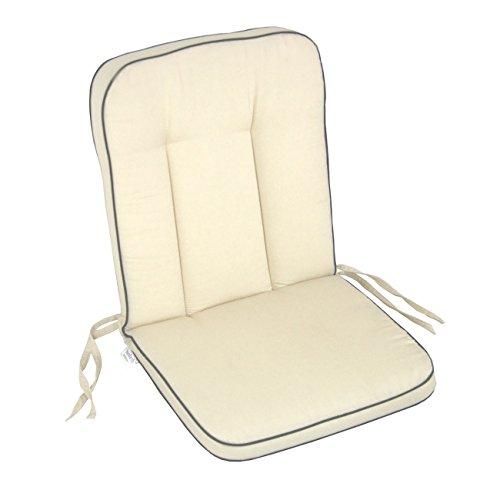 Polsterauflage MBM Romeo Gartenstuhl von OUTLIV. Niederlehnerauflage Sitz- Rückenkissen beige Sitzauflage Gartensessel