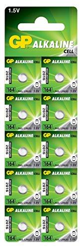 GP 164 F U10 Alkaline Batterie AG1/LR60 (1.5 V, Lot de 10) Blister