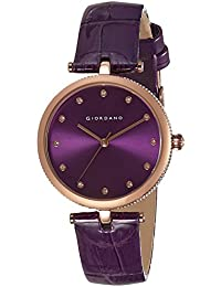 Giordano Analog Purple Dial Women's Watch - A2038-09