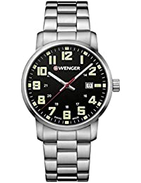 Wenger Men's 'Sport' Swiss Quartz Stainless Steel Casual Watch, Color:Silver-Toned (Model: 01.1641.111)