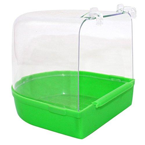 UKCOCO vasca per uccelli da appendere per uccelli, gabbia per piccoli Brids Canarie Budgies pappagallo (colore casuale)