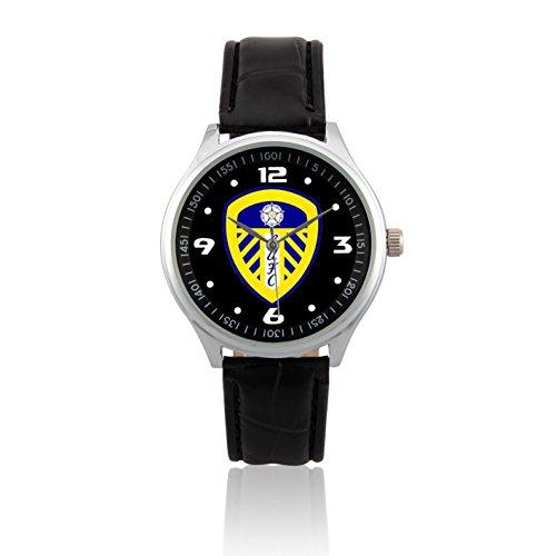 zoomeverydayr-leeds-united-fc-soccer-leather-strap-wrist-watch-black